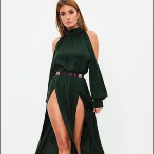 split front and sleeve maxi dress